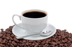 Coffee cup and grain stock image