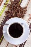 Coffee cup and grain stock images