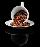 Coffee cup with grain Royalty Free Stock Images