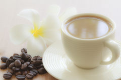 Coffee cup with grains Stock Photos