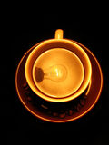 Coffee cup grains lamp Royalty Free Stock Images