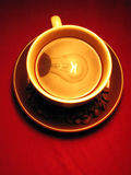 Coffee cup grains lamp Stock Photography