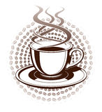 Coffee Cup Graphic Style Stock Photo