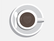 Coffee cup. On gray background Royalty Free Stock Photo