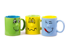 Coffee cup with a grin Stock Image