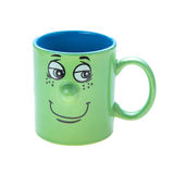Coffee cup with a grin royalty free stock image