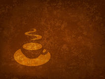 Coffee cup on a grunge bacground Stock Images