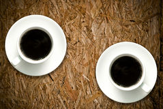 Coffee cup on grunge wood table Royalty Free Stock Image