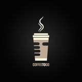 Coffee cup hand concept design background Royalty Free Stock Photo