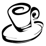 Coffee cup. Hand drawn coffee cup icon royalty free illustration