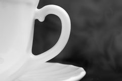 Coffee cup handle Stock Photography