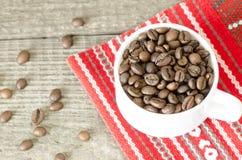 Coffee cup on handmade Stock Image