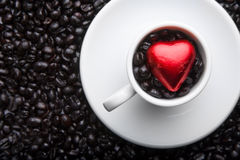 Coffee Cup Heart Stock Photos