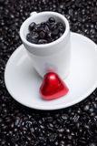 Coffee Cup Heart stock photo