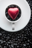 Coffee Cup Heart stock image