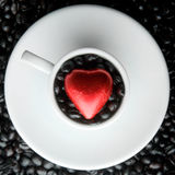 Coffee Cup Heart royalty free stock image