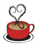 Coffee Cup Heart Royalty Free Stock Photos