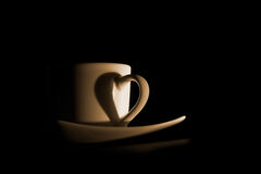 Coffee cup heart Stock Photography