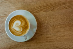 Coffee cup with heart Royalty Free Stock Photo
