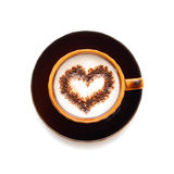 Coffee cup with heart shape Stock Photo
