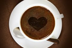 Coffee Cup with Heart Royalty Free Stock Images