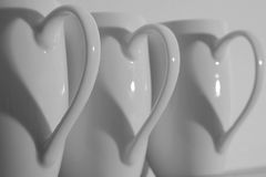 Coffee Cup Hearts Stock Image