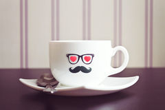 Coffee cup hipster concept background Royalty Free Stock Photography