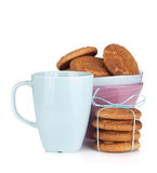 Coffee cup with homemade cookies Royalty Free Stock Image