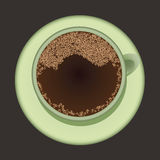 Coffee. Cup of hot black coffee Stock Photography