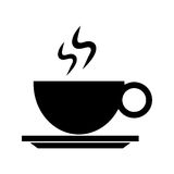 Coffee cup hot drink pictogram Stock Image