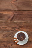 Coffee. A cup of hot coffee with a hint of cinnamon each day in the morning to awaken the best Stock Photos