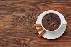 Coffee. A cup of hot coffee with a hint of cinnamon each day in the morning to awaken the best Royalty Free Stock Photography