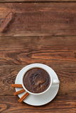 Coffee. A cup of hot coffee with a hint of cinnamon each day in the morning to awaken the best Royalty Free Stock Image