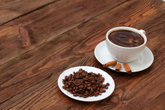 Coffee. A cup of hot coffee with a hint of cinnamon each day in the morning to awaken the best Royalty Free Stock Photo