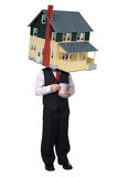 Coffee cup House man Royalty Free Stock Photo