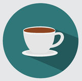 Coffee cup icon. Flat design Royalty Free Stock Photos