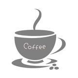 Coffee Cup icon, logo design flat Stock Image