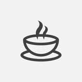 Coffee cup icon, logo illustration, group pictogram isolated on white. Royalty Free Stock Photos