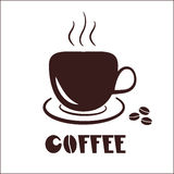 Coffee cup icon logo Royalty Free Stock Photo