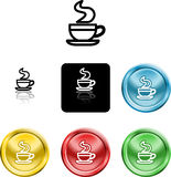 Coffee cup icon symbol Royalty Free Stock Photos