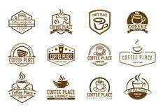 Coffee cup icon symbol set stock illustration