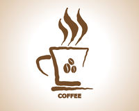 Coffee Cup Icon Symbol Vector Royalty Free Stock Image