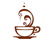 Coffee cup icon, vector. Royalty Free Stock Photo