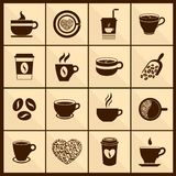 Coffee cup icons black Stock Photo