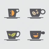Coffee cup icons design Royalty Free Stock Images