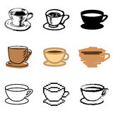 Coffee cup icons set Royalty Free Stock Photography