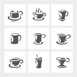 Coffee cup icons set Royalty Free Stock Images