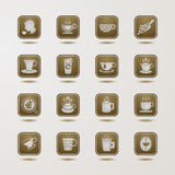Coffee cup icons set Stock Photography