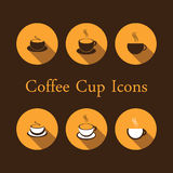 Coffee Cup Icons Stock Photos