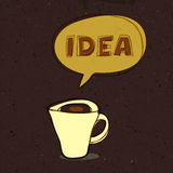 Coffee cup of idea Stock Photo
